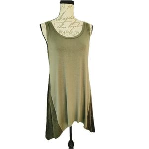 LOGO Layers Green Sleeveless Tunic M